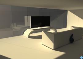 Modélisation 3D d'un salon screenshot